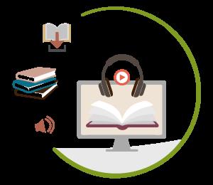 Bücher,  Hörbücher und eBooks