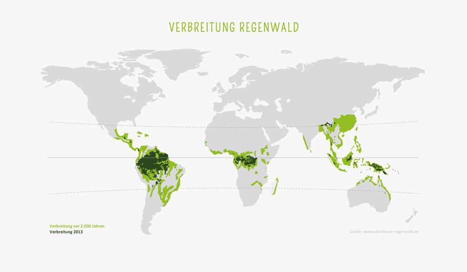 Verbreitung des Regenwalds